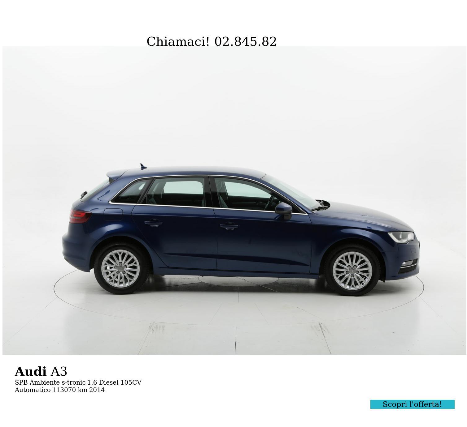 Audi A3 usata del 2014 con 113.309 km | brumbrum