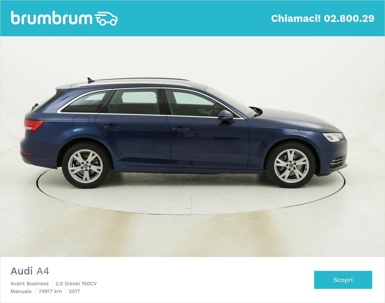 Audi A4 Avant Business usata del 2017 con 75.620 km   brumbrum