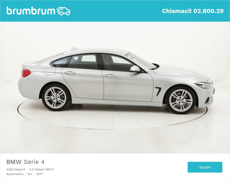 BMW Serie 4 420d Msport usata del 2017 con 43.298 km | brumbrum