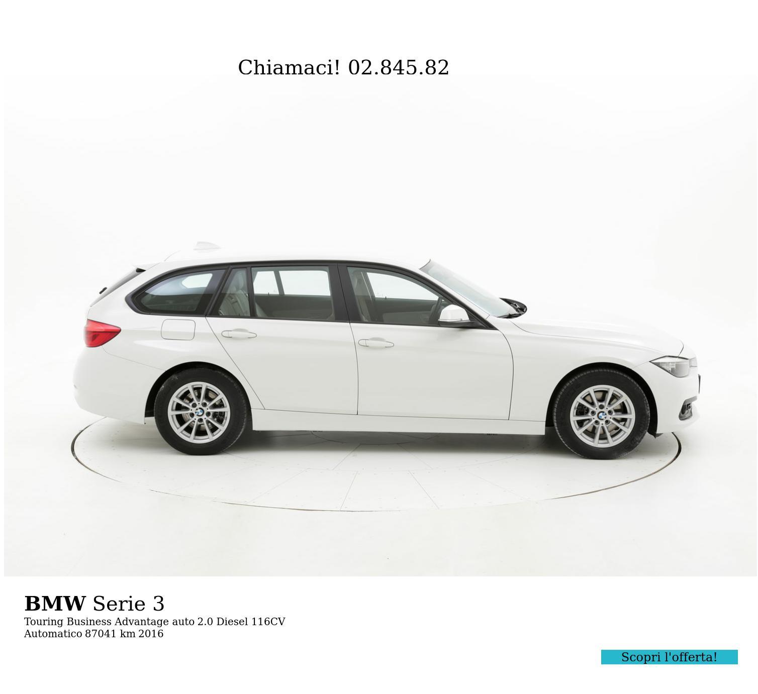 BMW Serie 3 usata del 2016 con 87.496 km   brumbrum