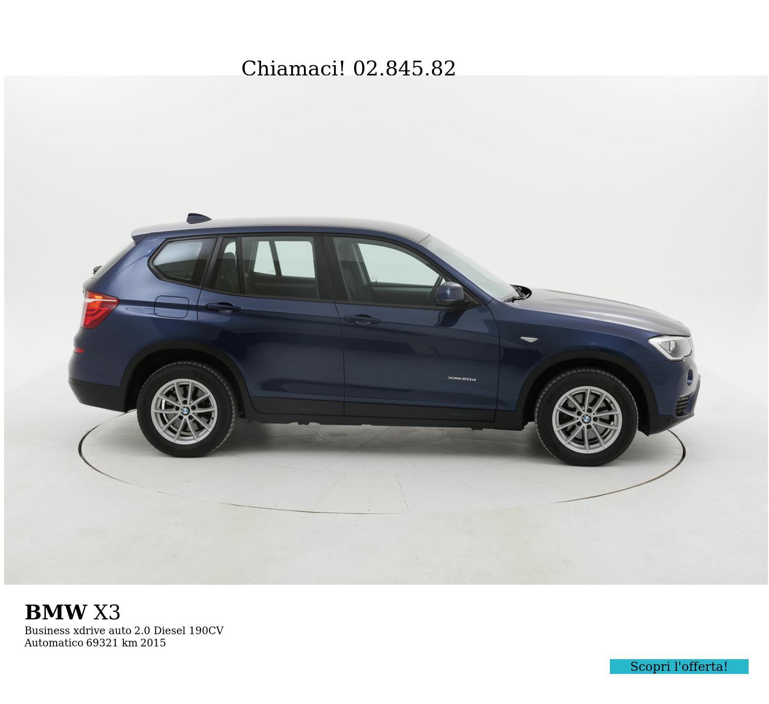 BMW X3 usata del 2015 con 69.493 km   brumbrum