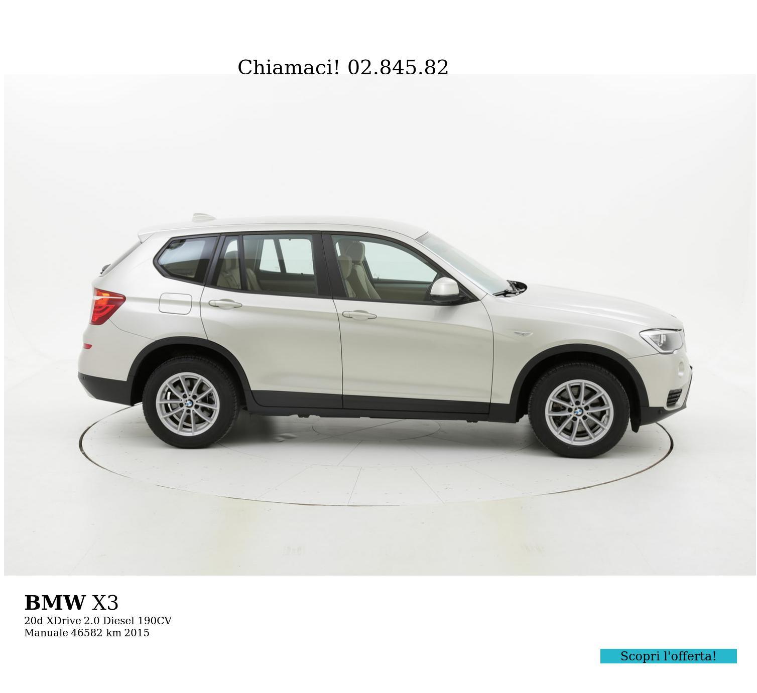 BMW X3 usata del 2015 con 46.874 km | brumbrum
