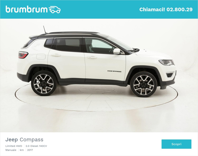 Jeep Compass Limited 4WD aut. usata del 2017 con 42.570 km   brumbrum