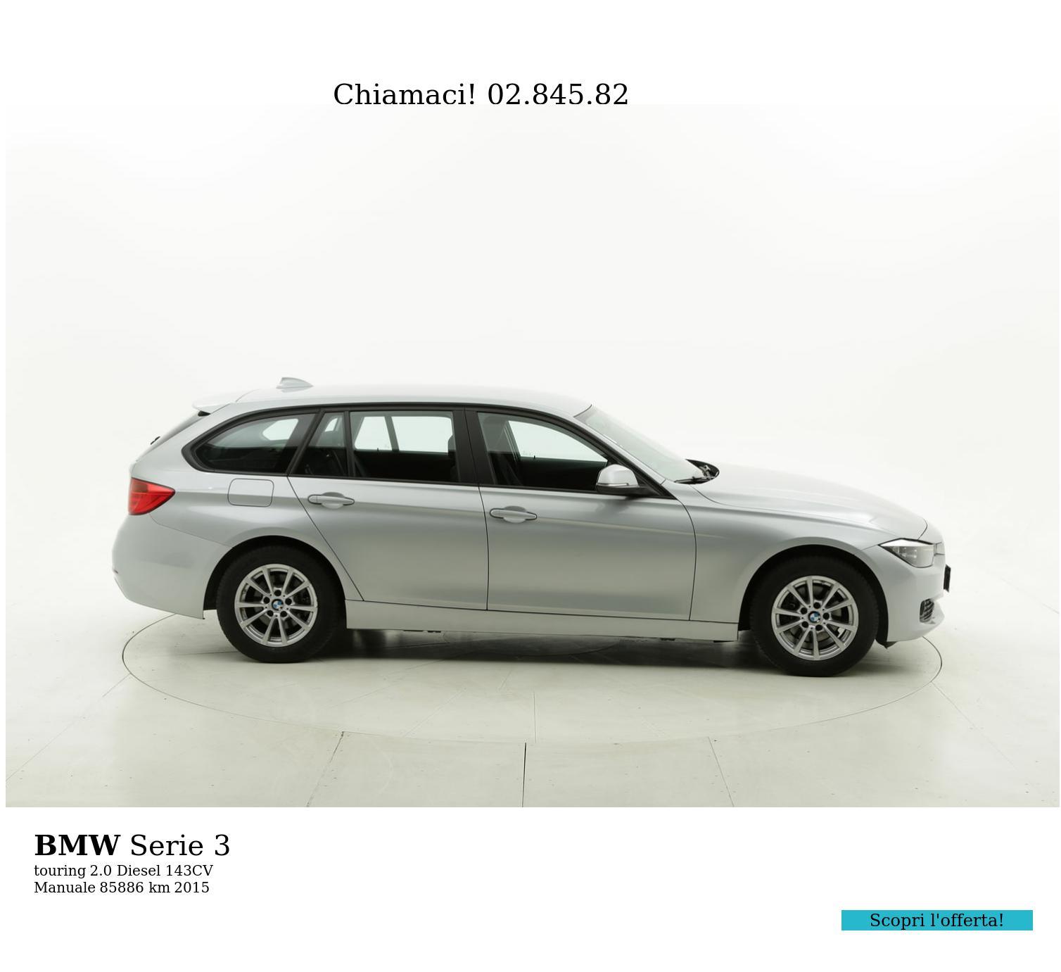 BMW Serie 3 usata del 2015 con 86.009 km | brumbrum