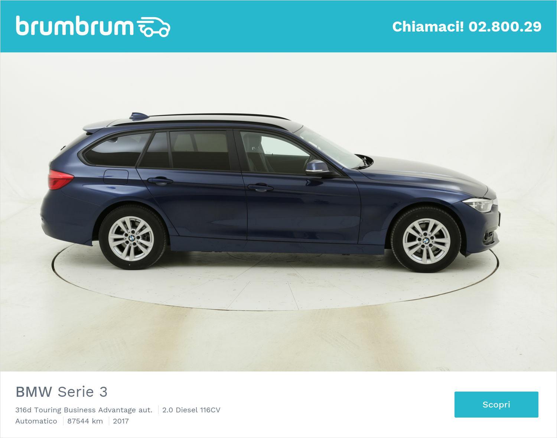 BMW Serie 3 316d Touring Business Advantage aut. usata del 2017 con 88.113 km | brumbrum