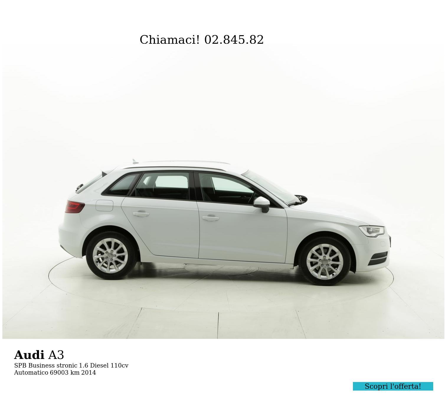 Audi A3 usata del 2014 con 69.314 km | brumbrum