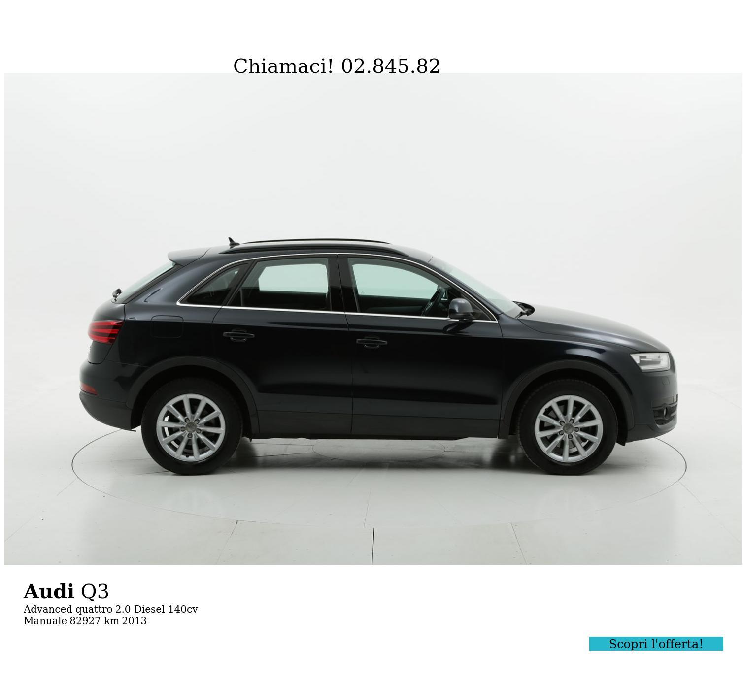Audi Q3 usata del 2013 con 83.040 km | brumbrum