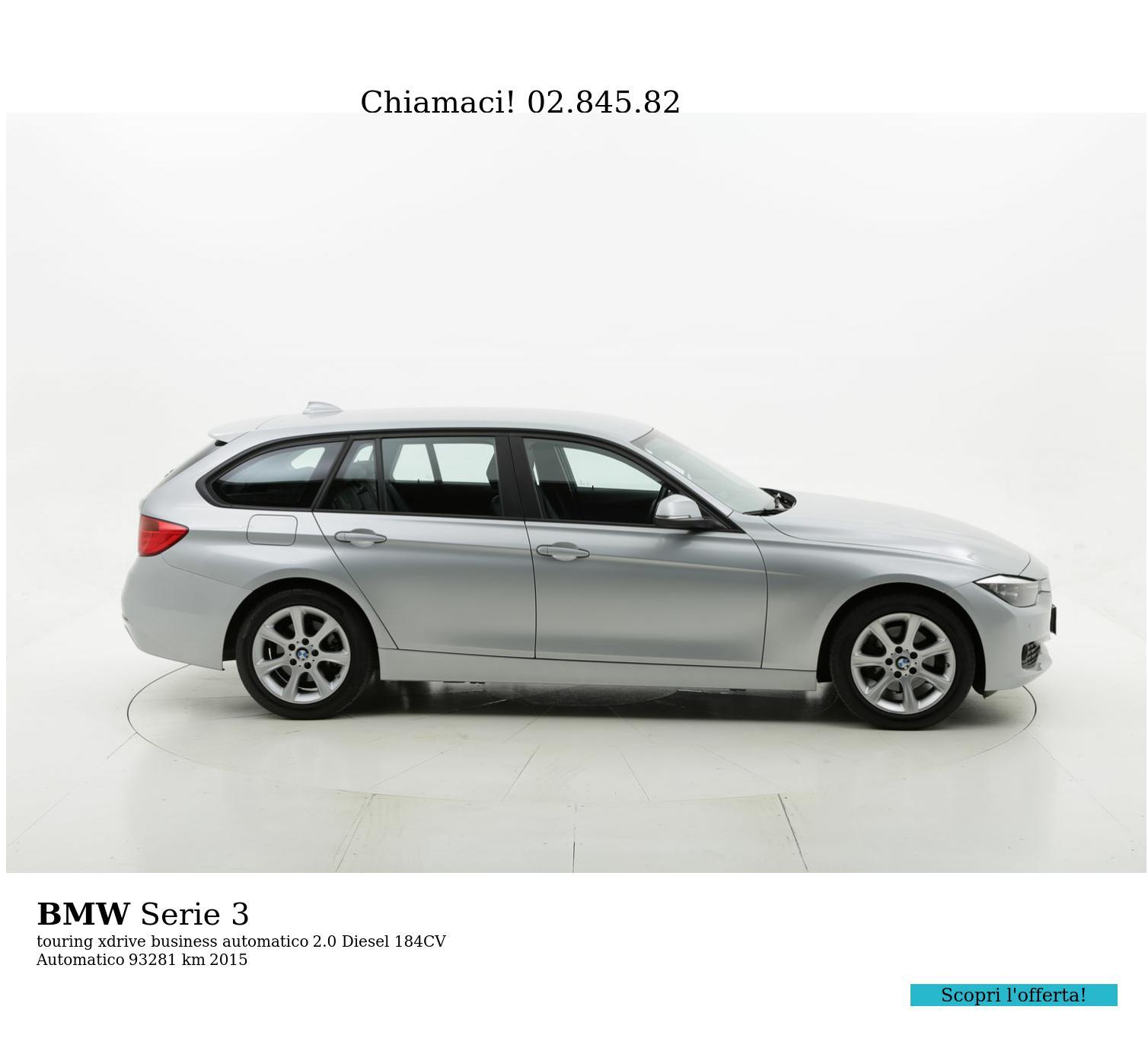 BMW Serie 3 usata del 2015 con 93.357 km   brumbrum