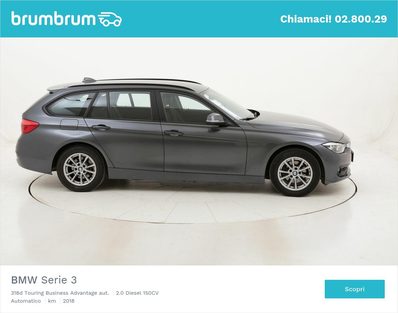 BMW Serie 3 318d Touring Business Advantage aut. usata del 2018 con 124.647 km   brumbrum