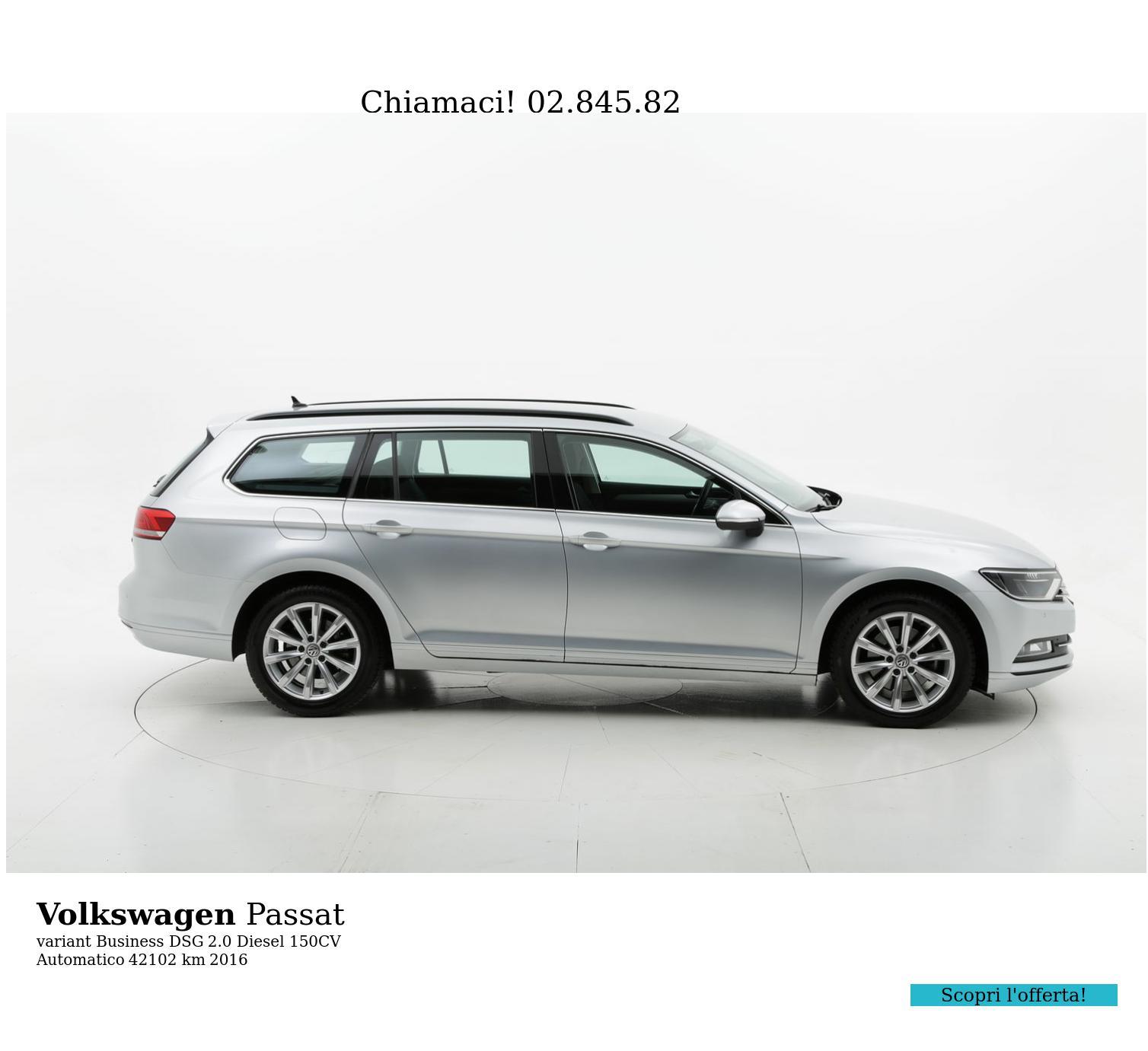 Volkswagen Passat usata del 2016 con 42.654 km | brumbrum