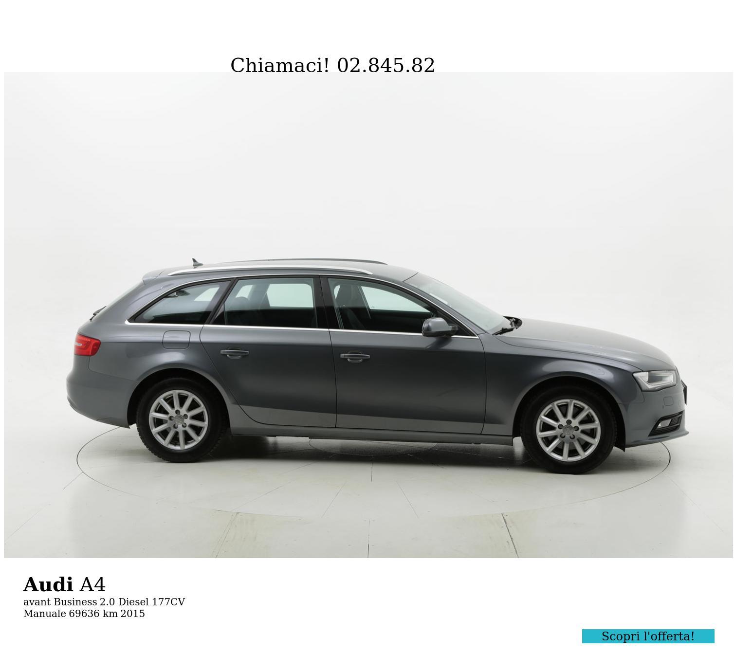Audi A4 usata del 2015 con 69.774 km | brumbrum