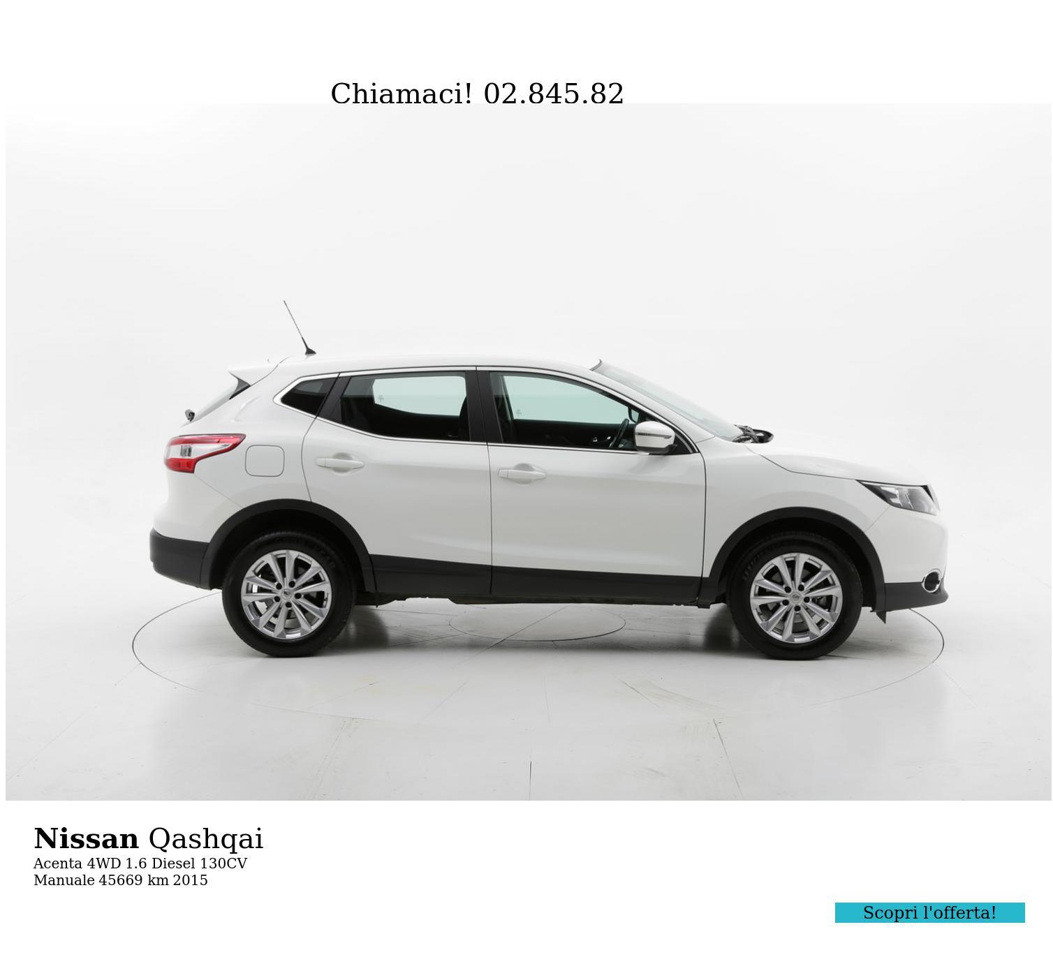 Nissan Qashqai usata del 2015 con 46.202 km | brumbrum