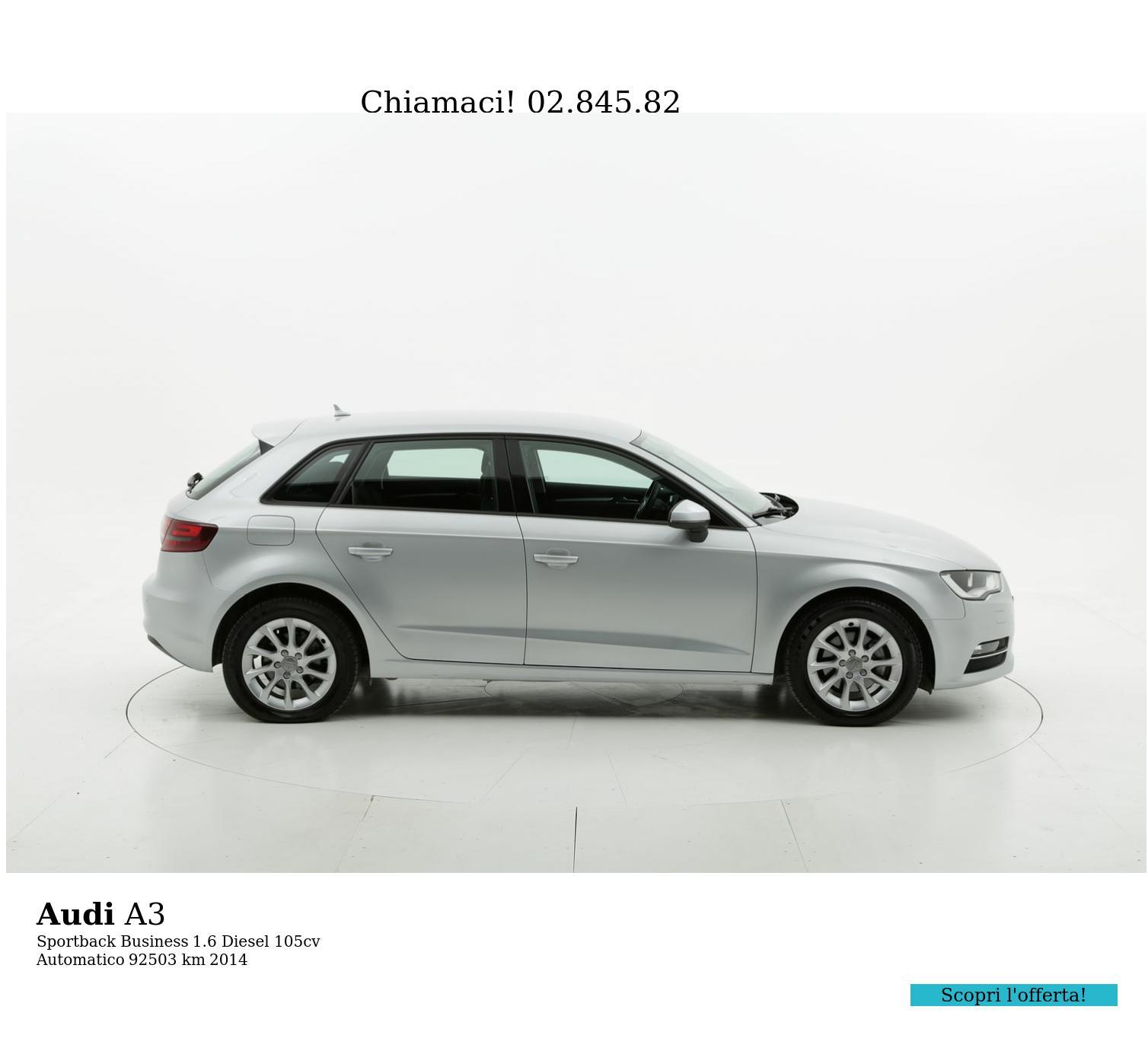 Audi A3 usata del 2014 con 92.656 km | brumbrum