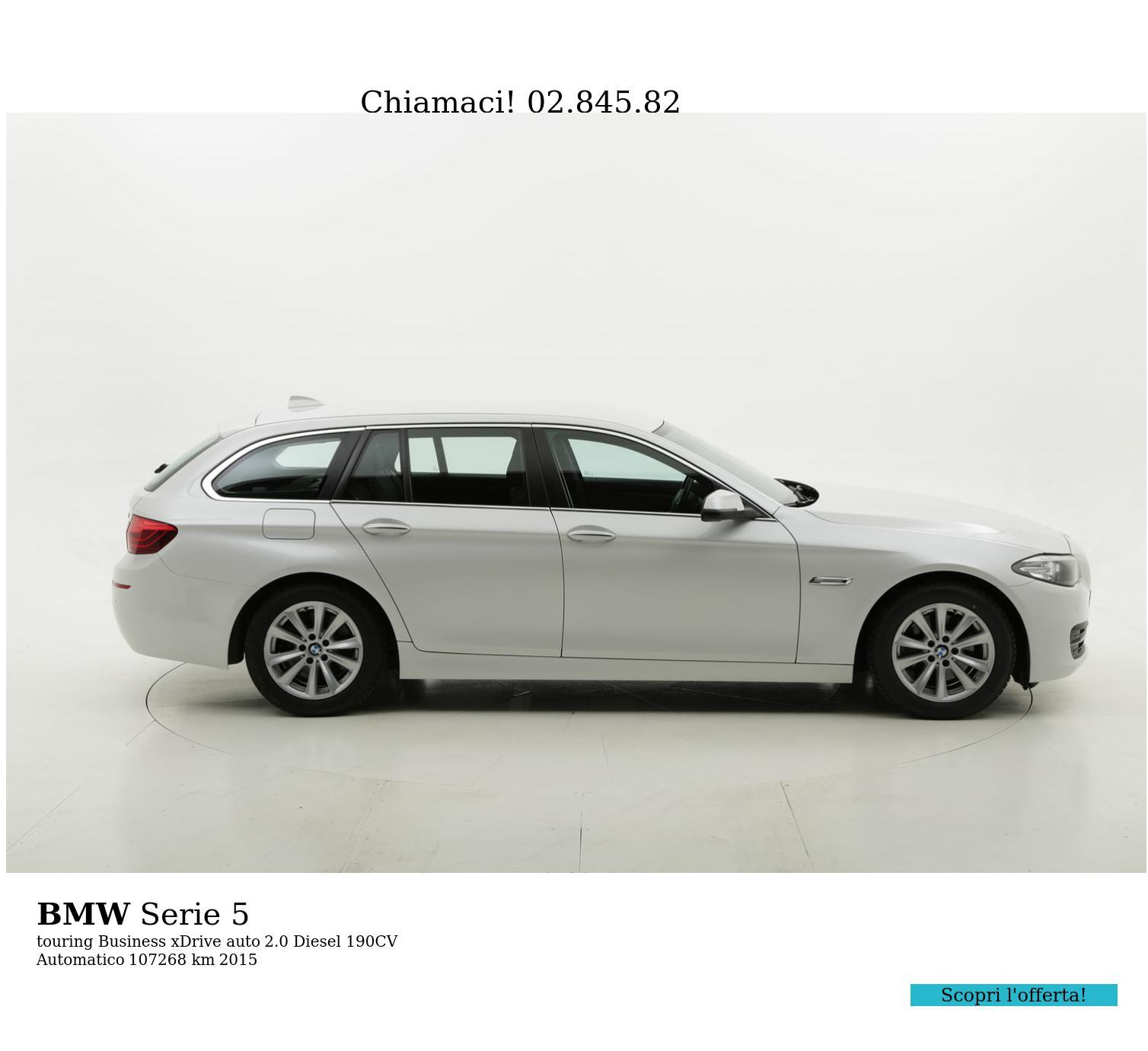 BMW Serie 5 usata del 2015 con 107.970 km   brumbrum