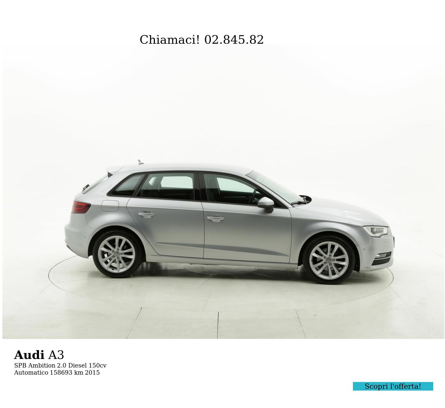 Audi A3 usata del 2015 con 159.016 km | brumbrum