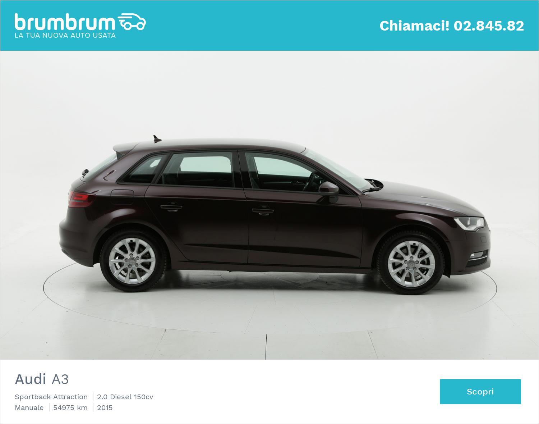 Audi A3 usata del 2015 con 55.076 km | brumbrum