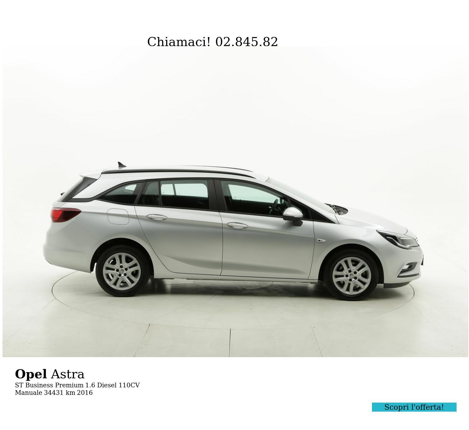 Opel Astra usata del 2016 con 34.838 km | brumbrum