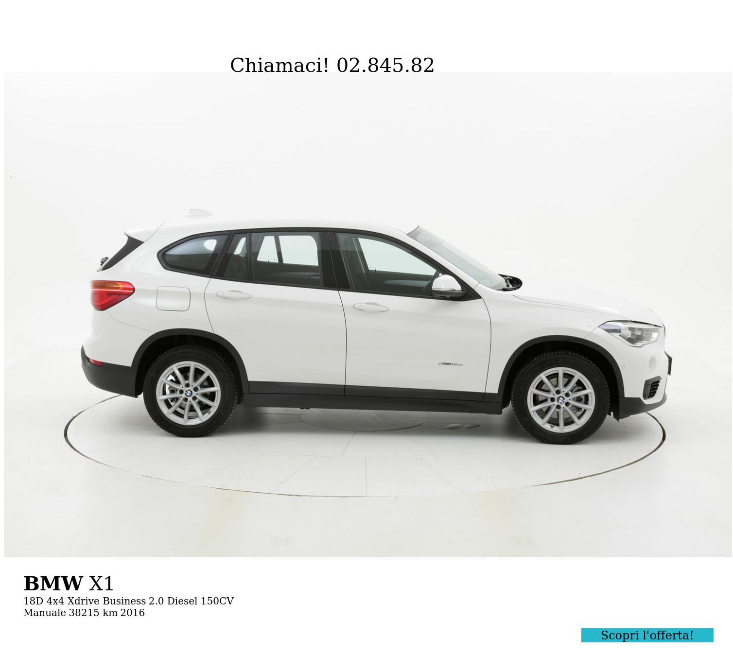 BMW X1 usata del 2016 con 39.095 km   brumbrum