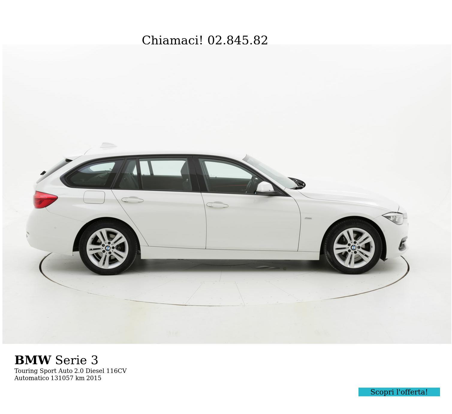 BMW Serie 3 usata del 2015 con 131.375 km   brumbrum