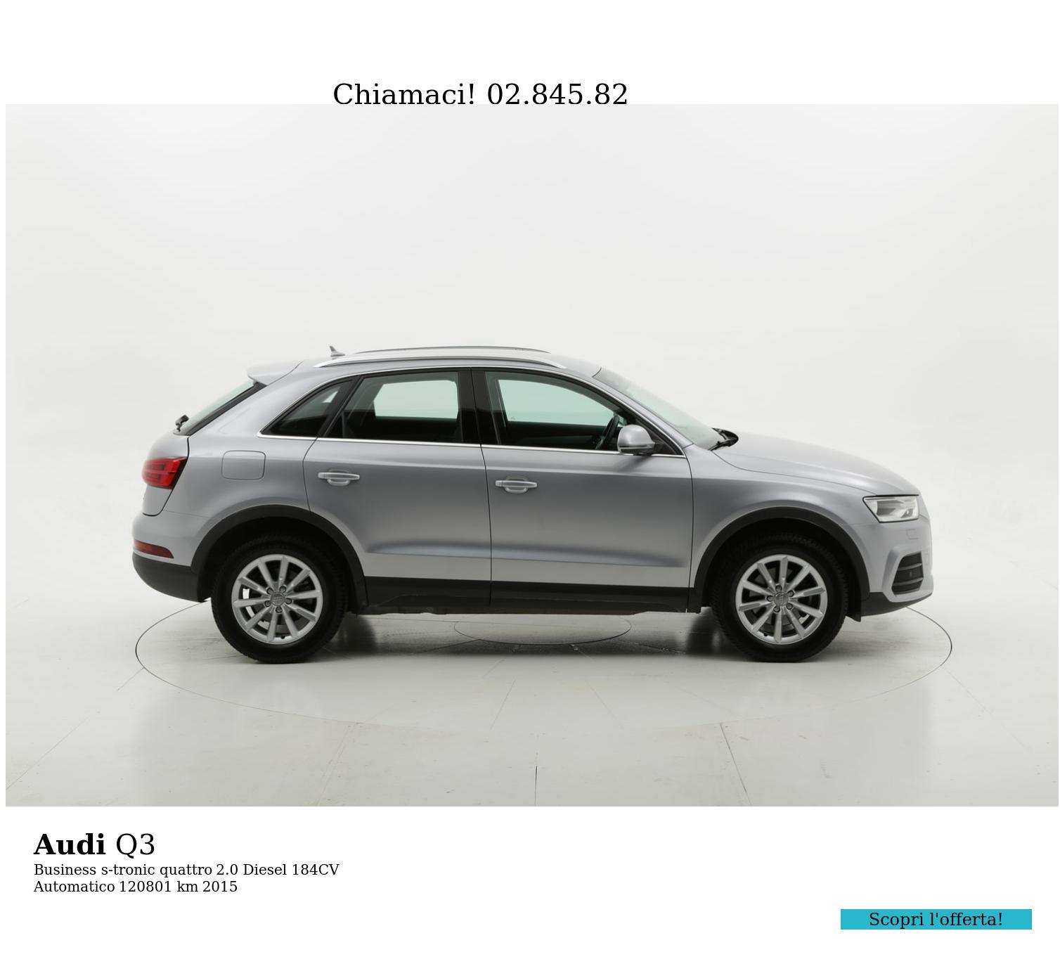 Audi Q3 usata del 2015 con 120.865 km | brumbrum