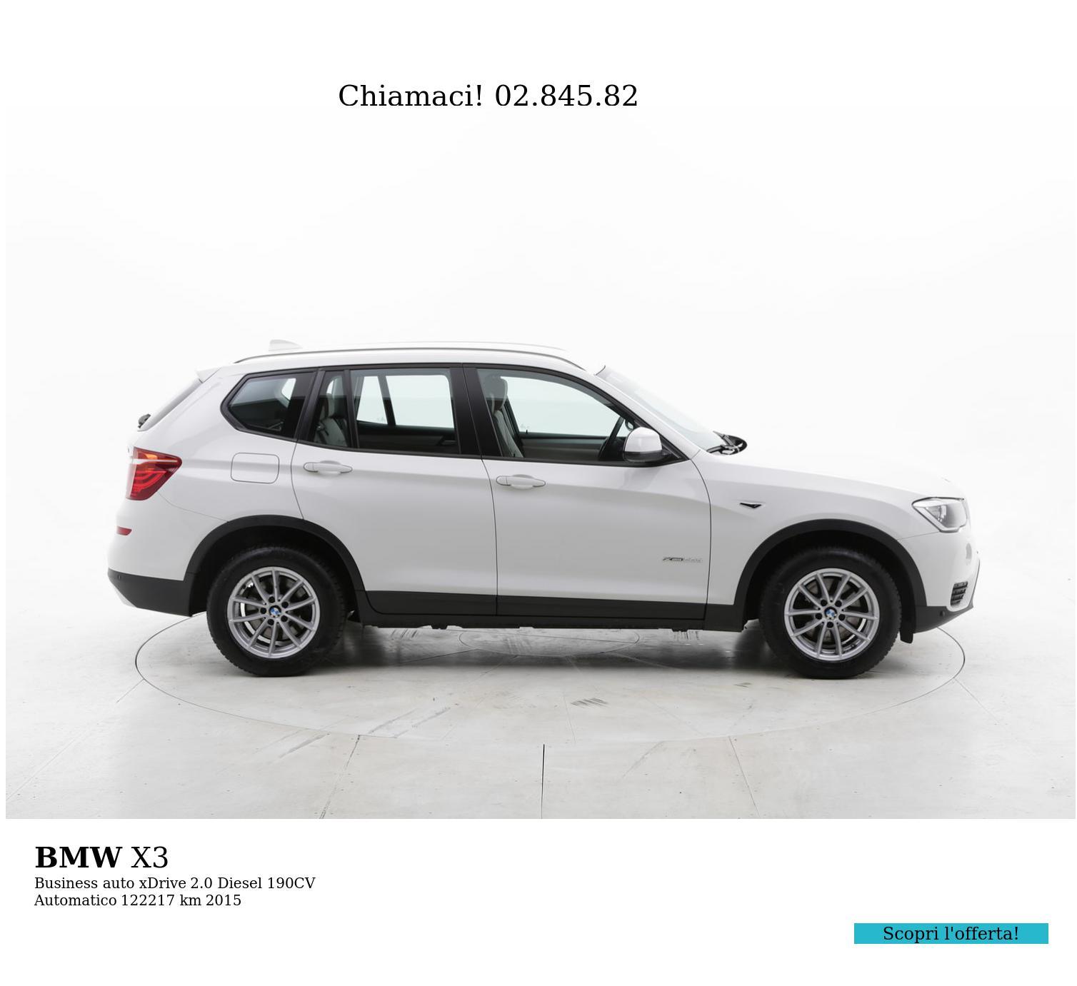 BMW X3 usata del 2015 con 122.789 km   brumbrum