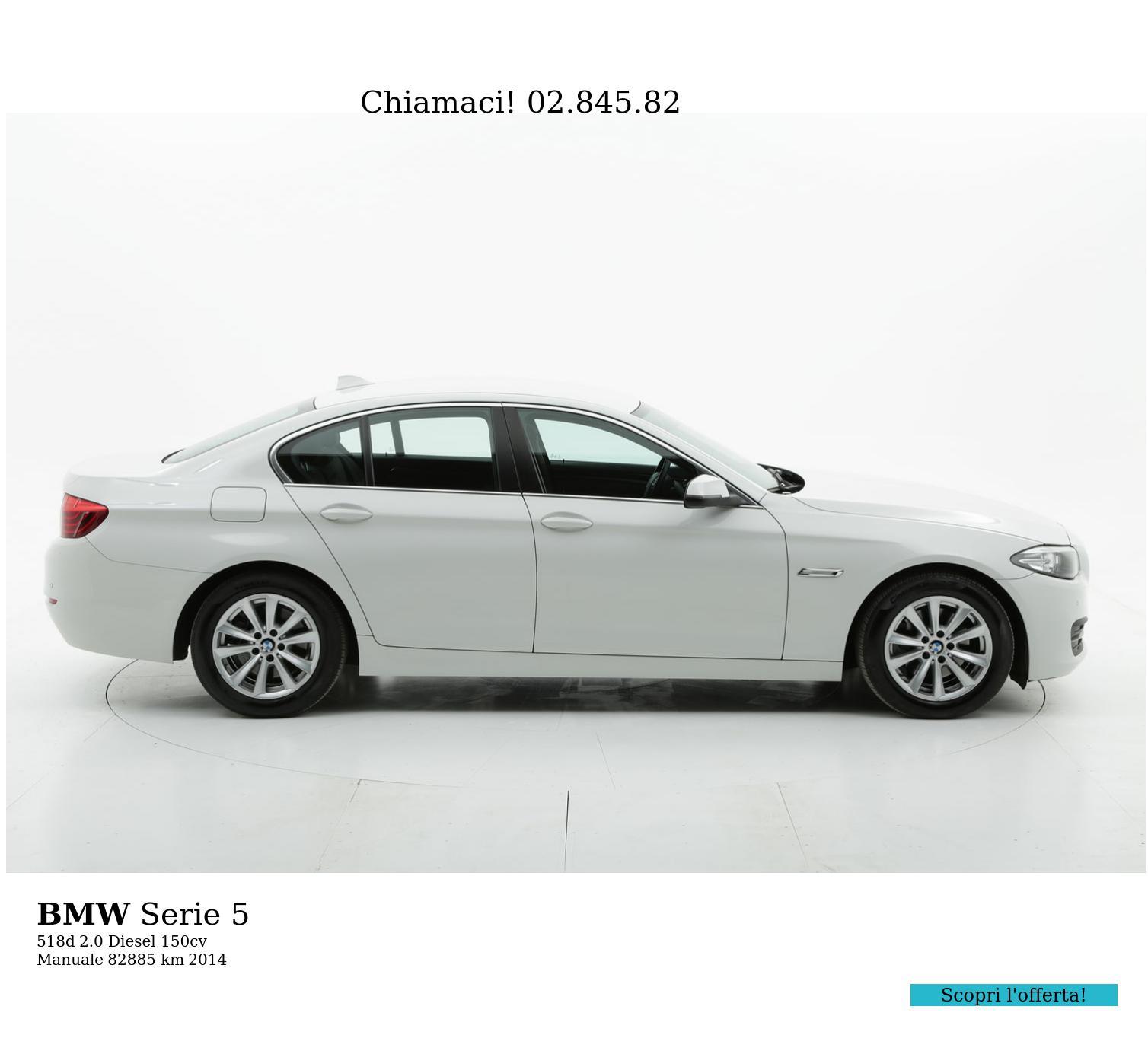 BMW Serie 5 usata del 2014 con 82.983 km | brumbrum
