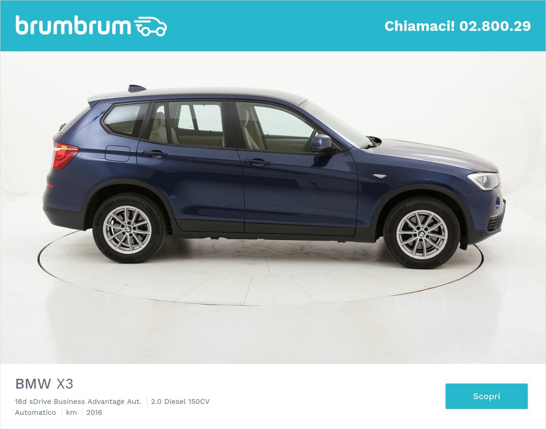 BMW X3 18d sDrive Business Advantage Aut. usata del 2016 con 86.904 km | brumbrum