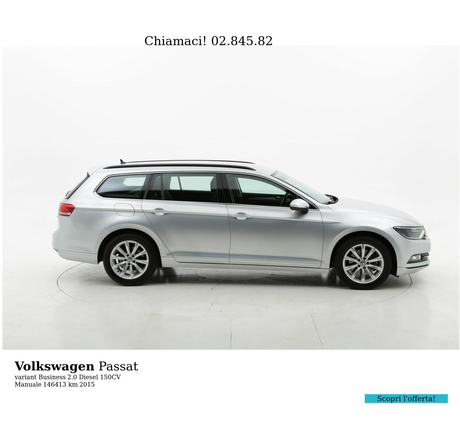 Volkswagen Passat usata del 2015 con 146.472 km | brumbrum