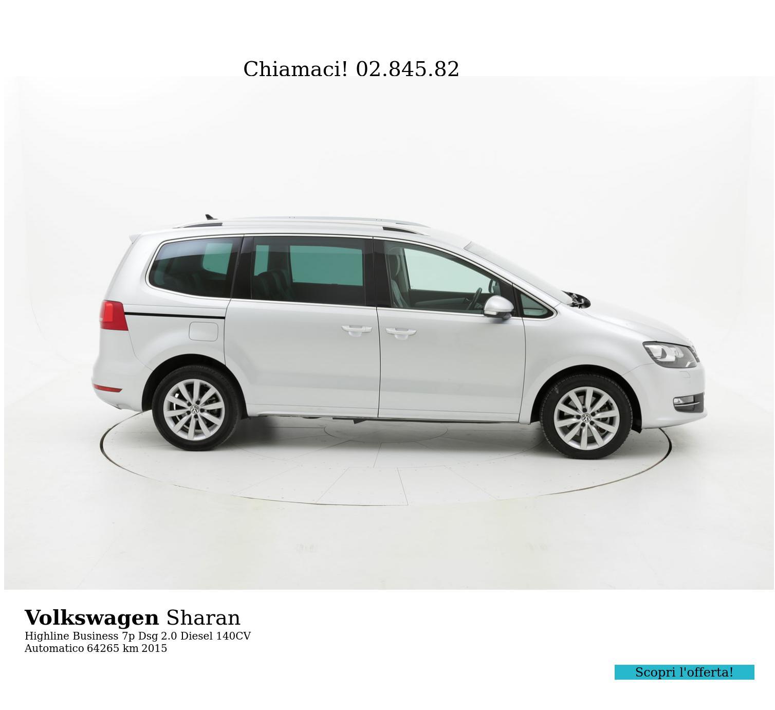 Volkswagen Sharan usata del 2015 con 64.720 km   brumbrum