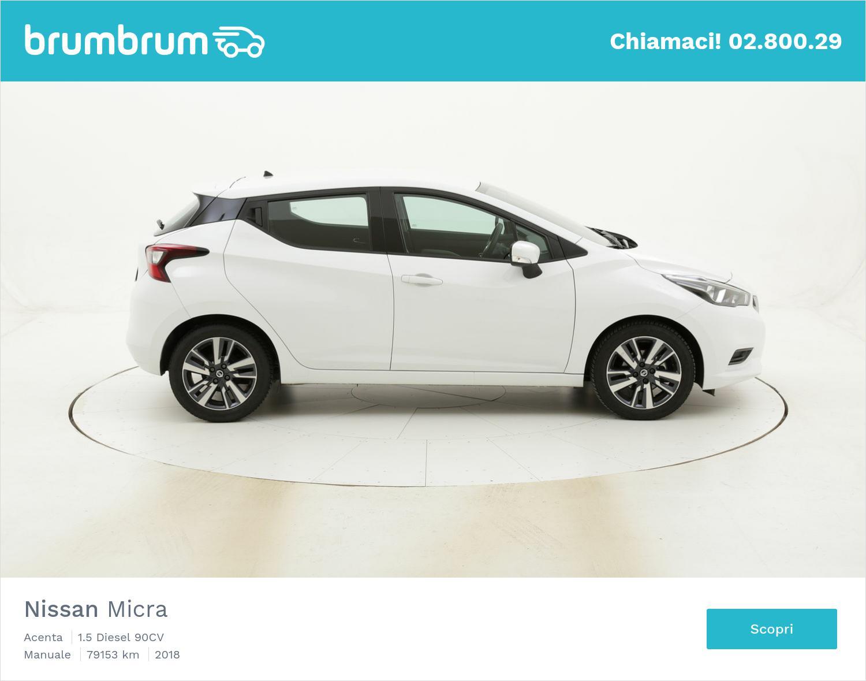 Nissan Micra Acenta usata del 2018 con 79.401 km | brumbrum