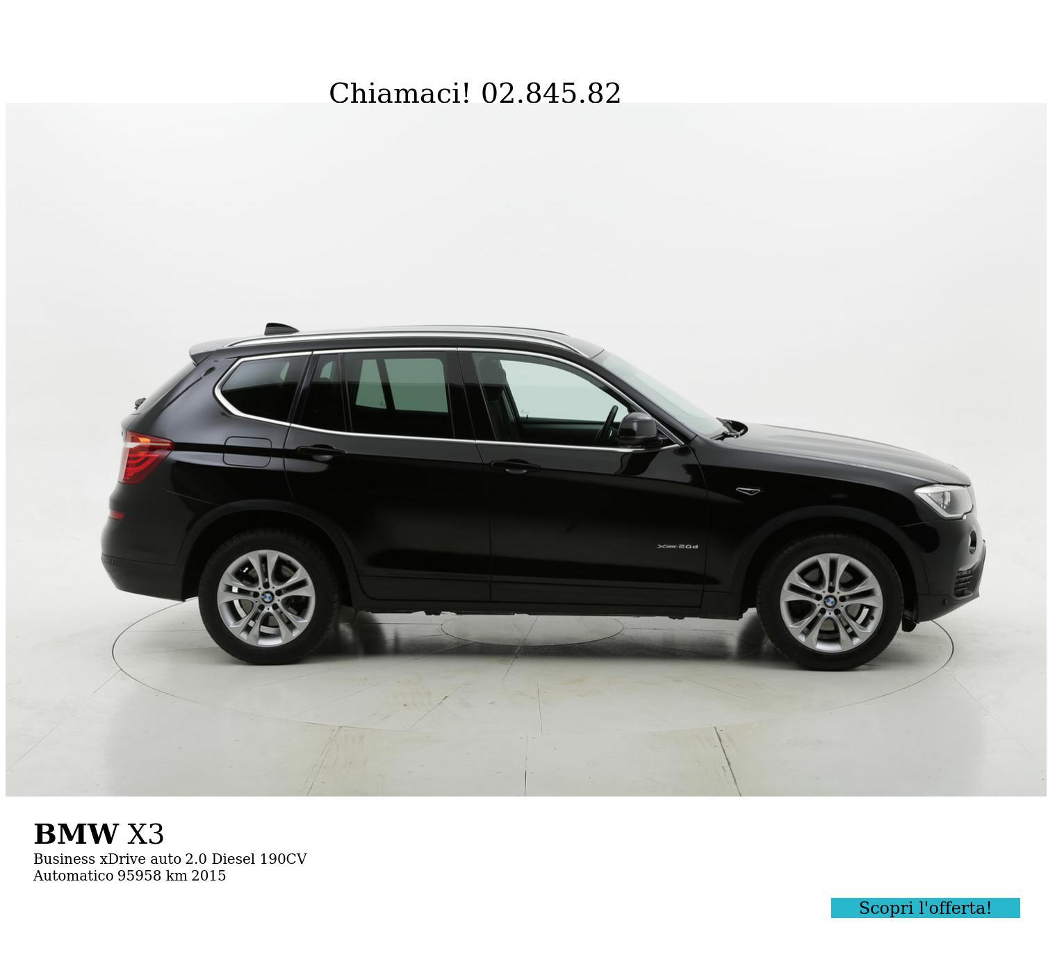 BMW X3 usata del 2015 con 96.105 km | brumbrum