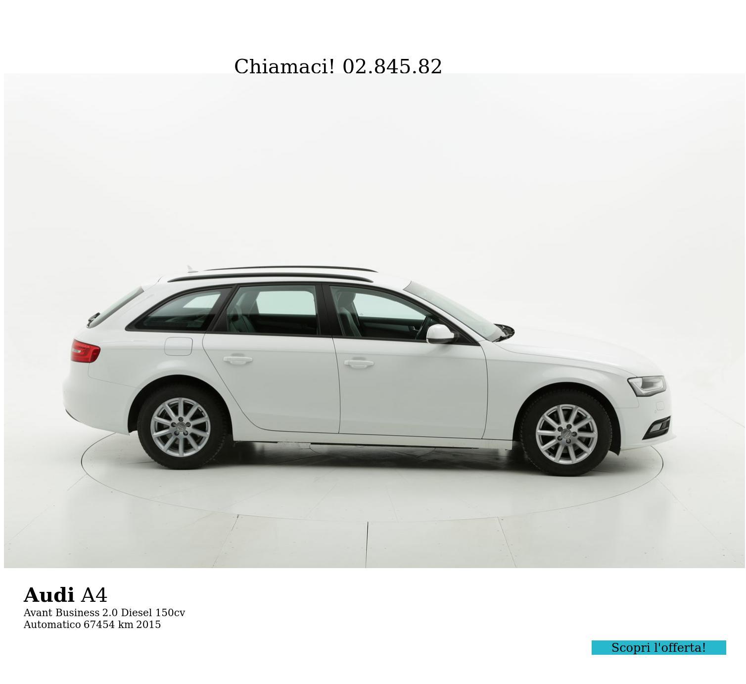 Audi A4 usata del 2015 con 67.738 km | brumbrum