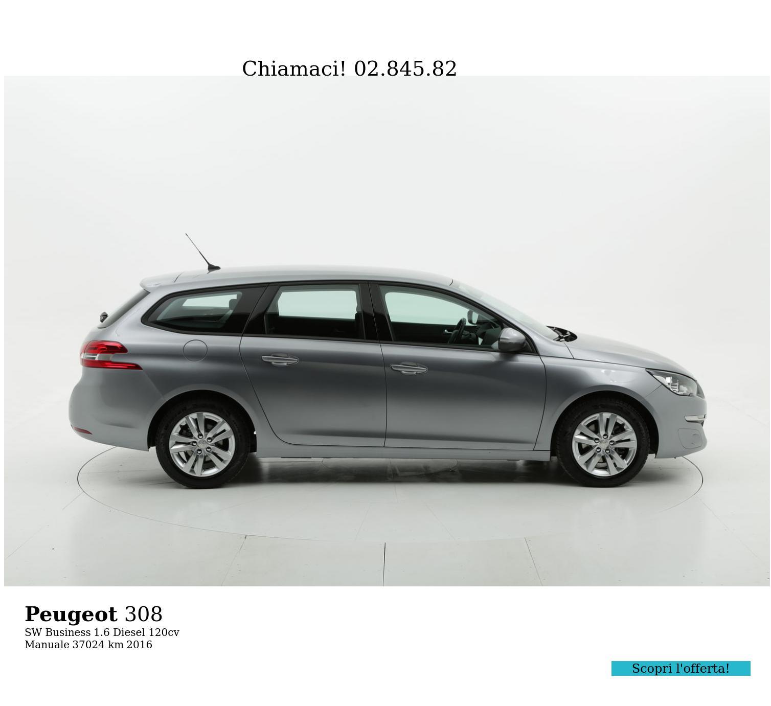 Peugeot 308 usata del 2016 con 37.029 km | brumbrum