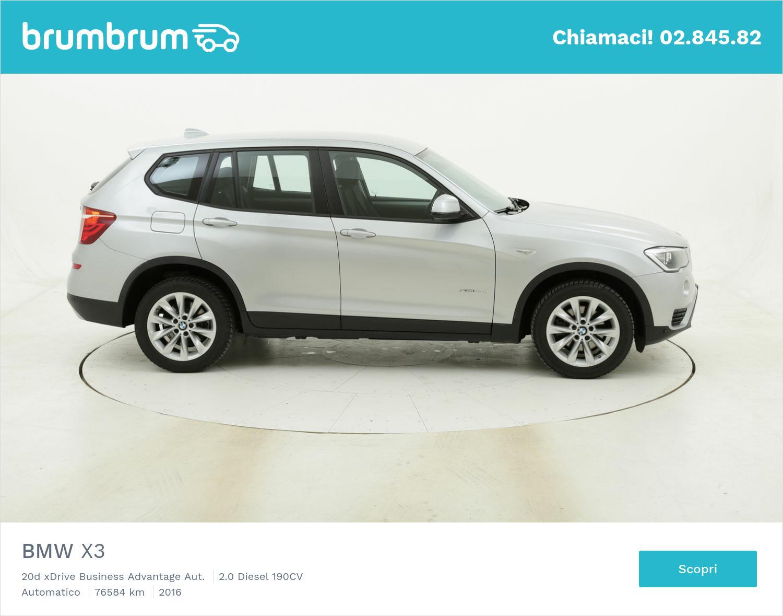 BMW X3 20d xDrive Business Advantage Aut. usata del 2016 con 77.190 km | brumbrum