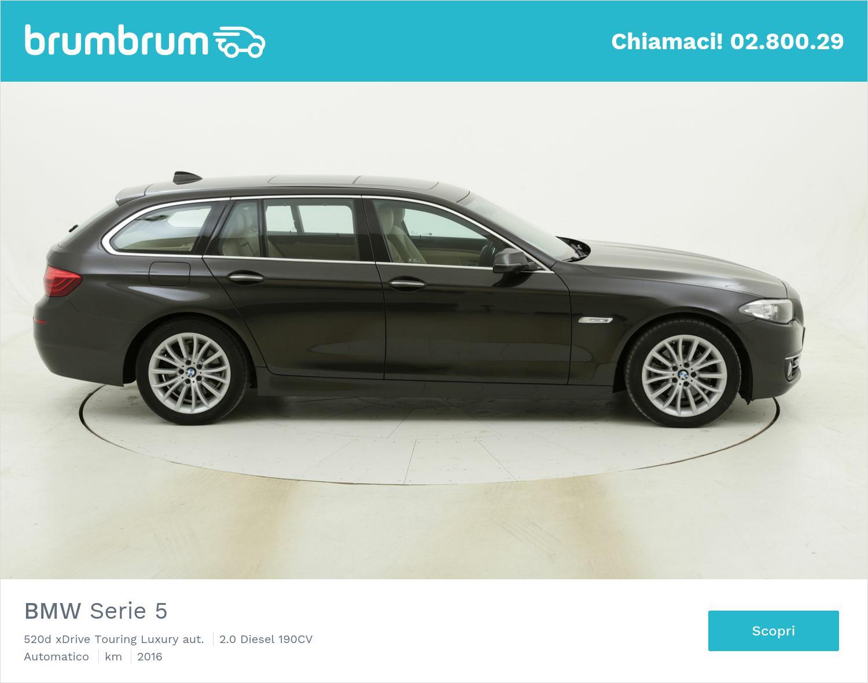 BMW Serie 5 520d xDrive Touring Luxury aut. usata del 2016 con 113.963 km | brumbrum
