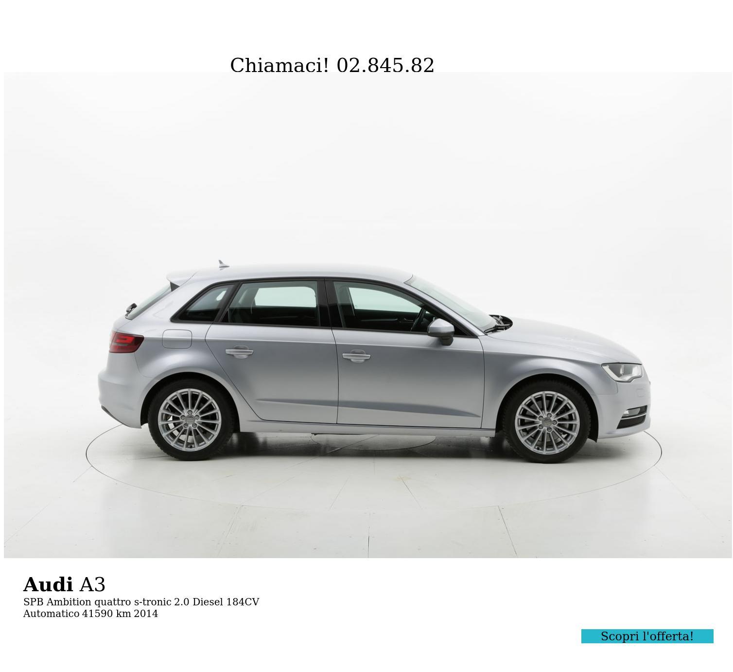 Audi A3 usata del 2014 con 41.729 km | brumbrum