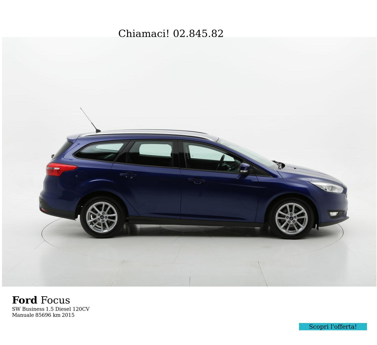 Ford Focus usata del 2015 con 85.883 km | brumbrum