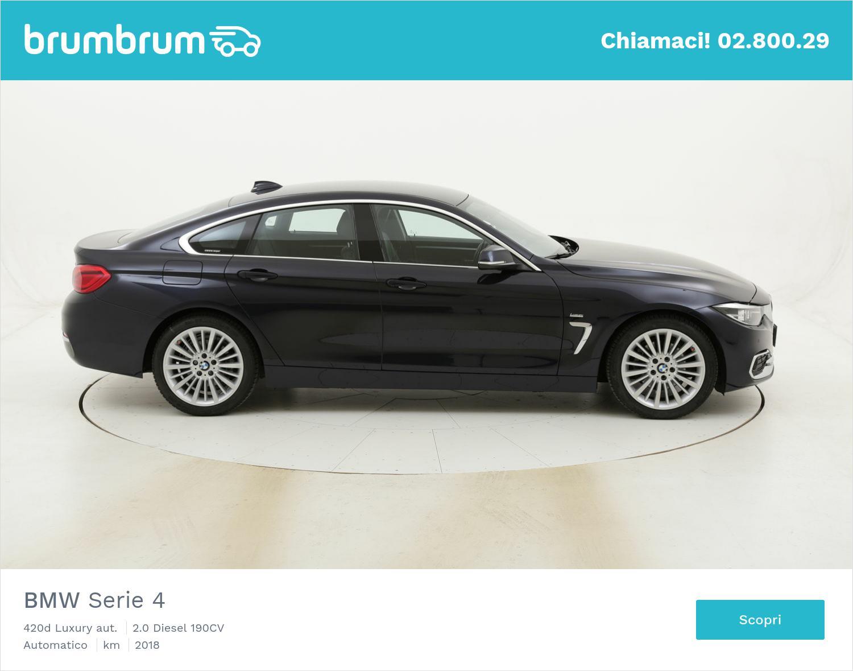 BMW Serie 4 420d Luxury aut. usata del 2018 con 36.926 km | brumbrum