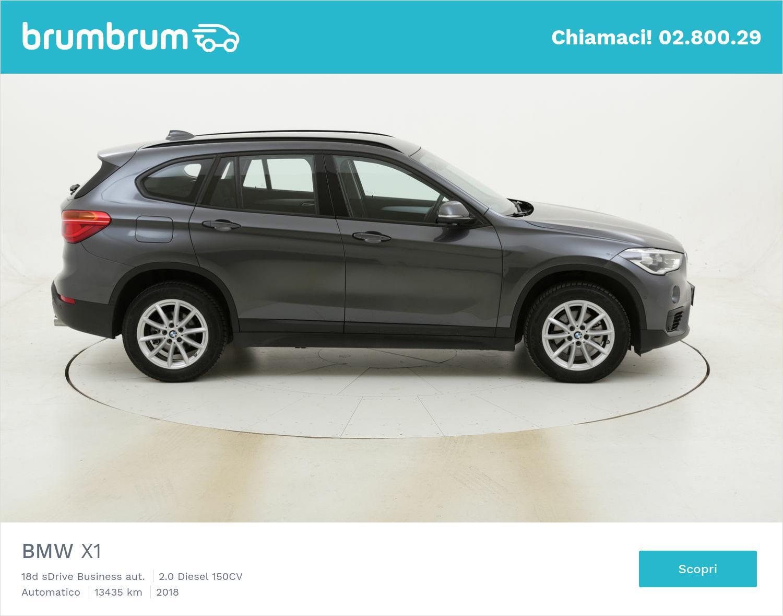 BMW X1 18d sDrive Business aut. usata del 2018 con 14.001 km | brumbrum