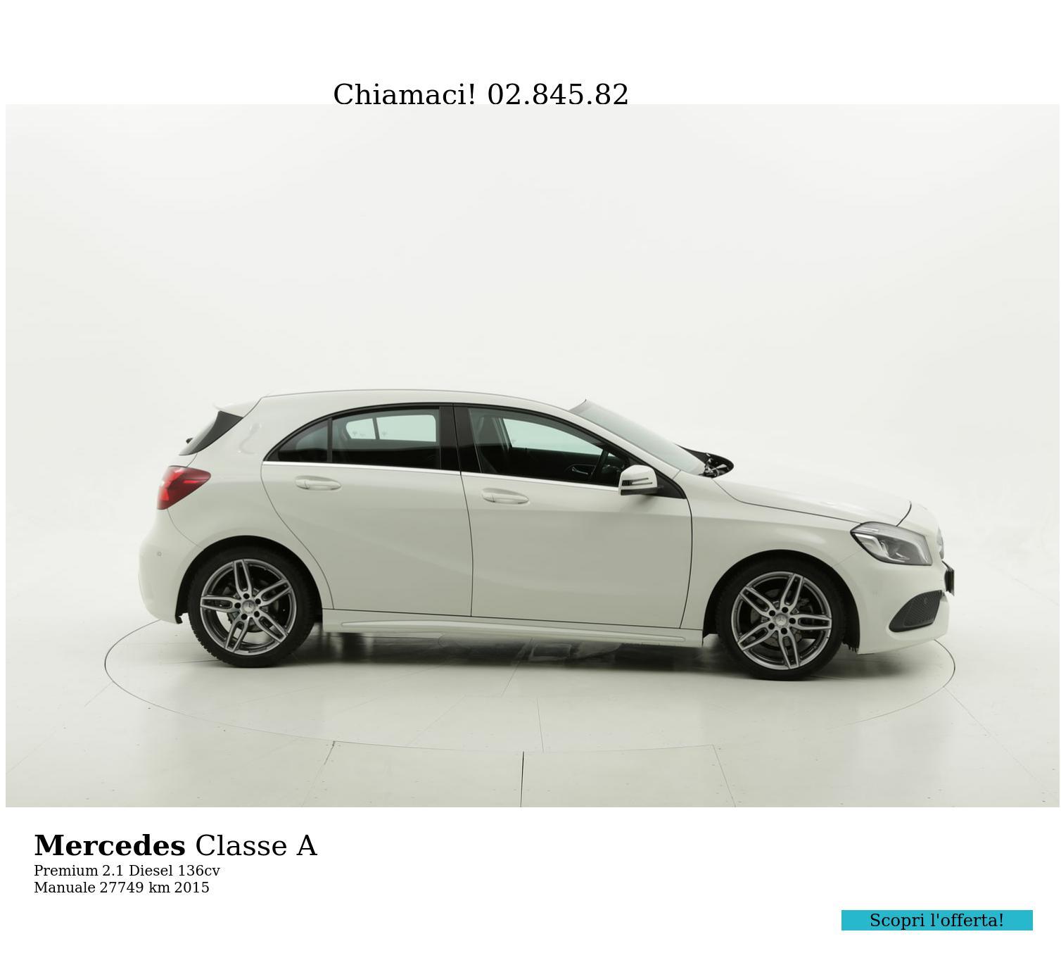Mercedes Classe A usata del 2015 con 27.845 km | brumbrum