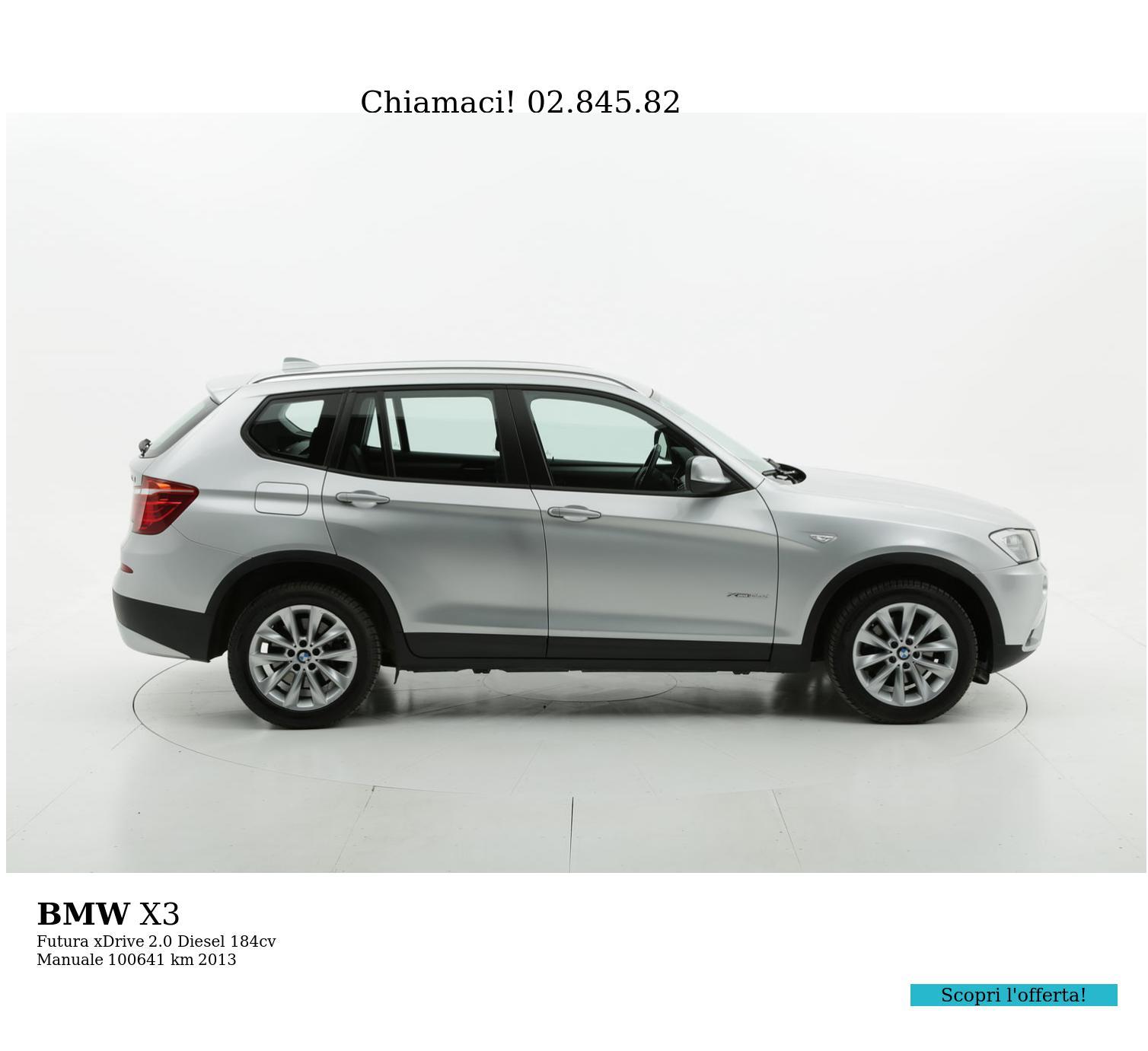BMW X3 usata del 2013 con 100.753 km | brumbrum