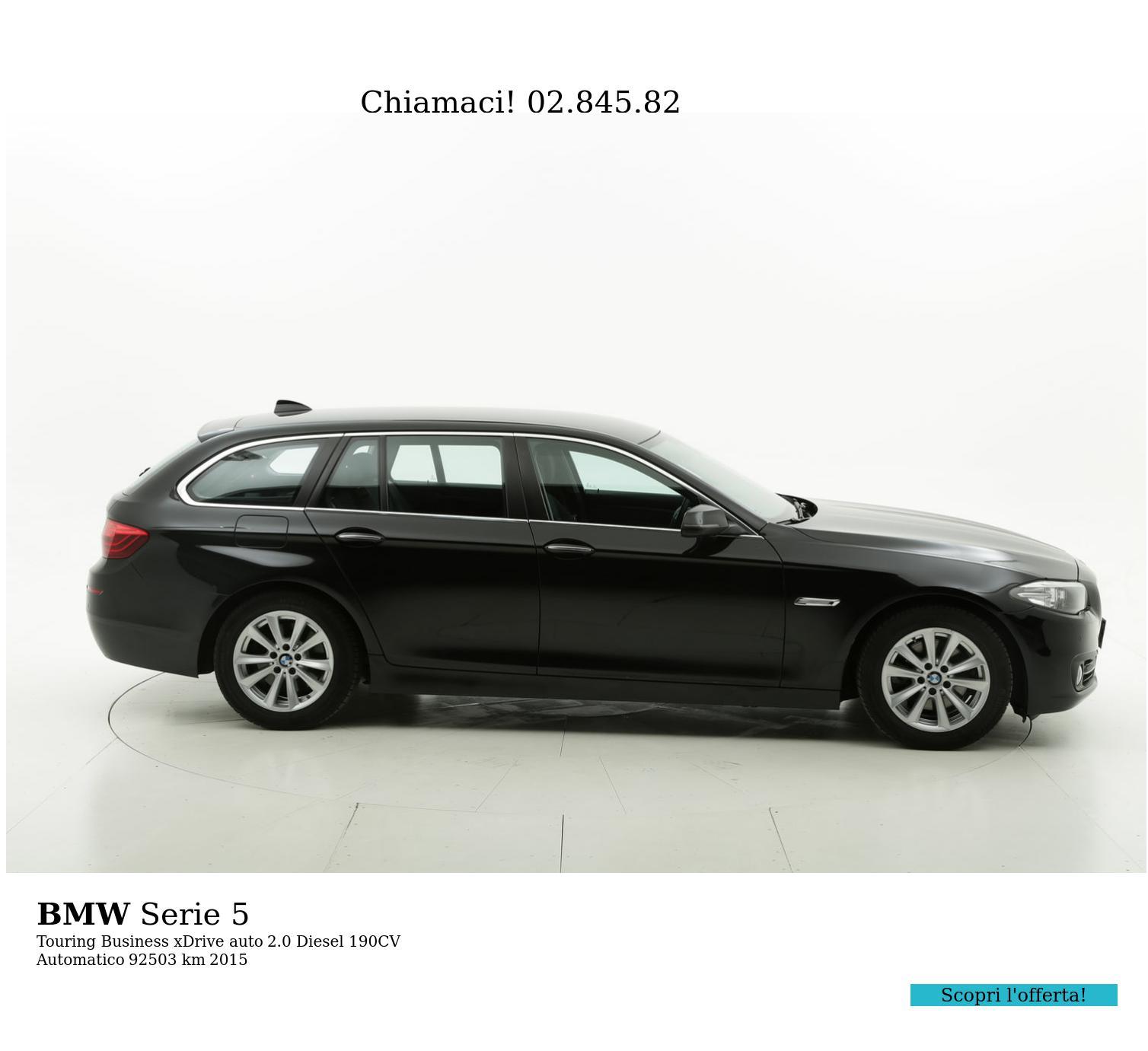 BMW Serie 5 usata del 2015 con 92.591 km   brumbrum