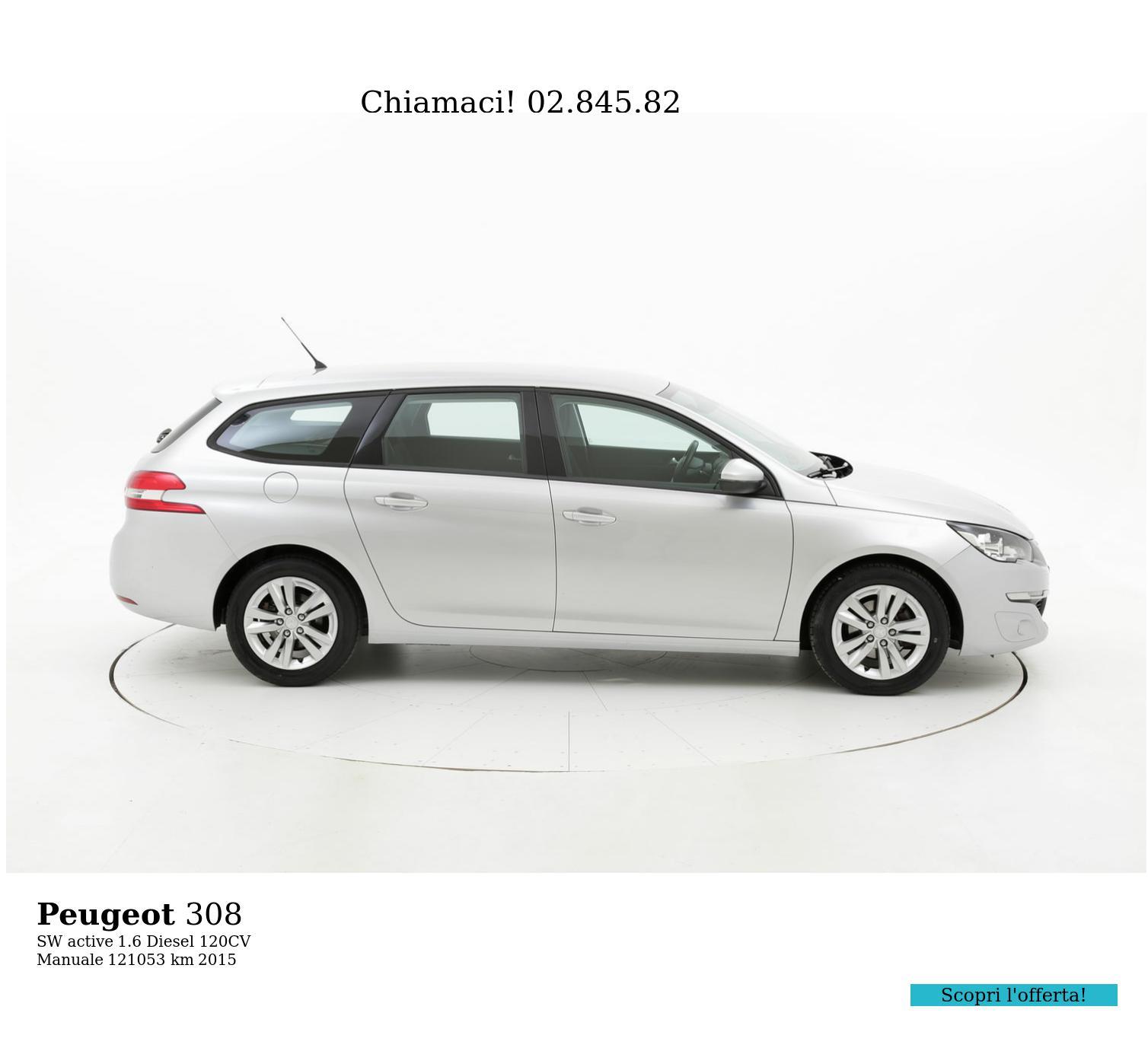 Peugeot 308 usata del 2015 con 121.629 km | brumbrum