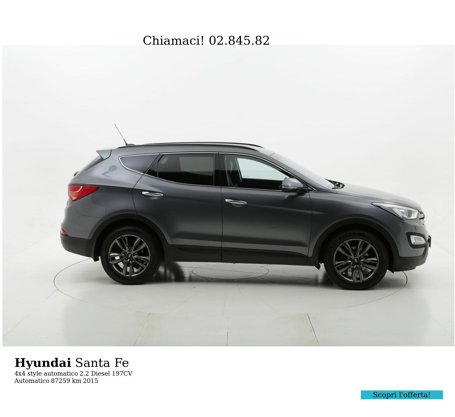 Hyundai Santa Fe usata del 2015 con 87.771 km | brumbrum