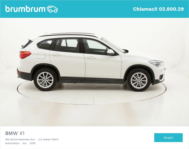 BMW X1 18d sDrive Business Aut. usata del 2019 con 58.900 km   brumbrum
