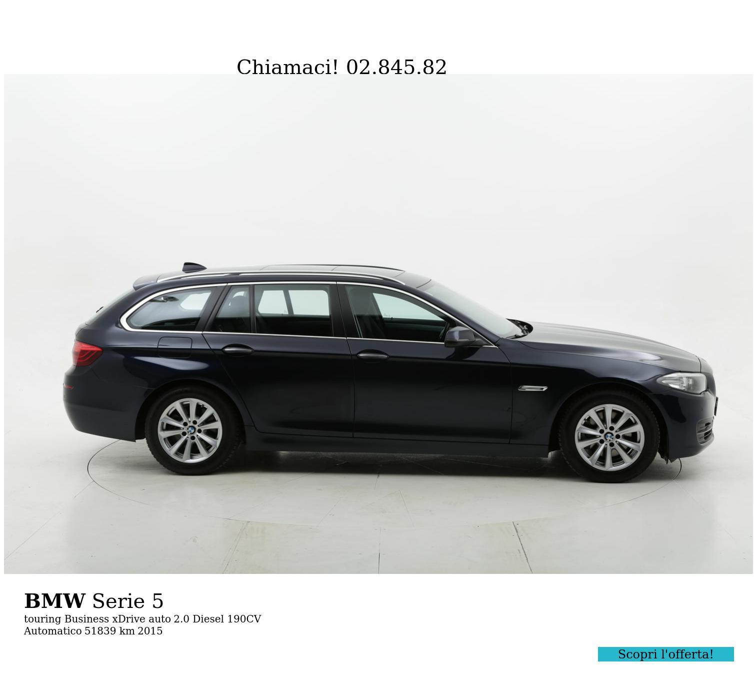 BMW Serie 5 usata del 2015 con 51.940 km | brumbrum