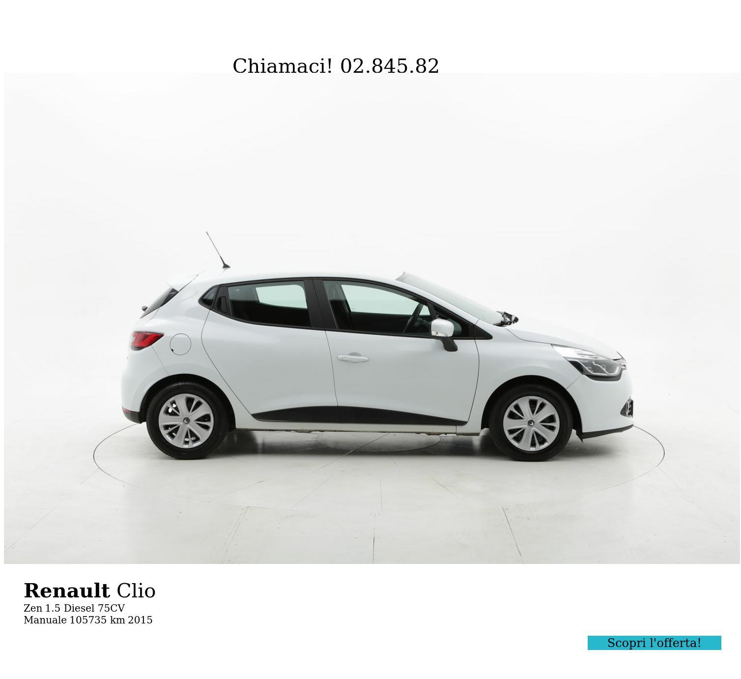 Renault Clio usata del 2015 con 106.154 km   brumbrum