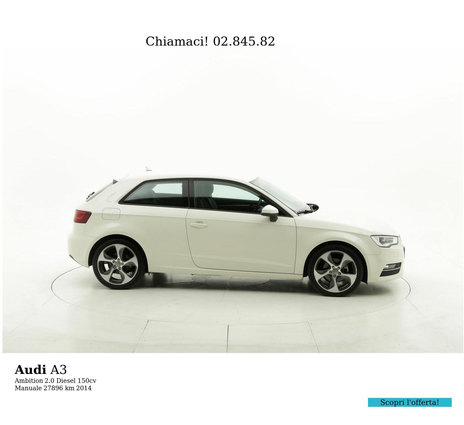 Audi A3 usata del 2014 con 27.958 km | brumbrum