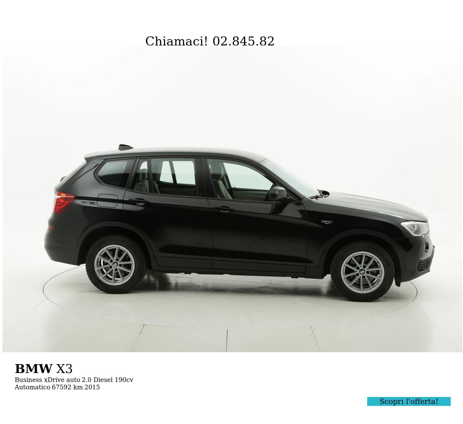 BMW X3 usata del 2015 con 67.615 km | brumbrum