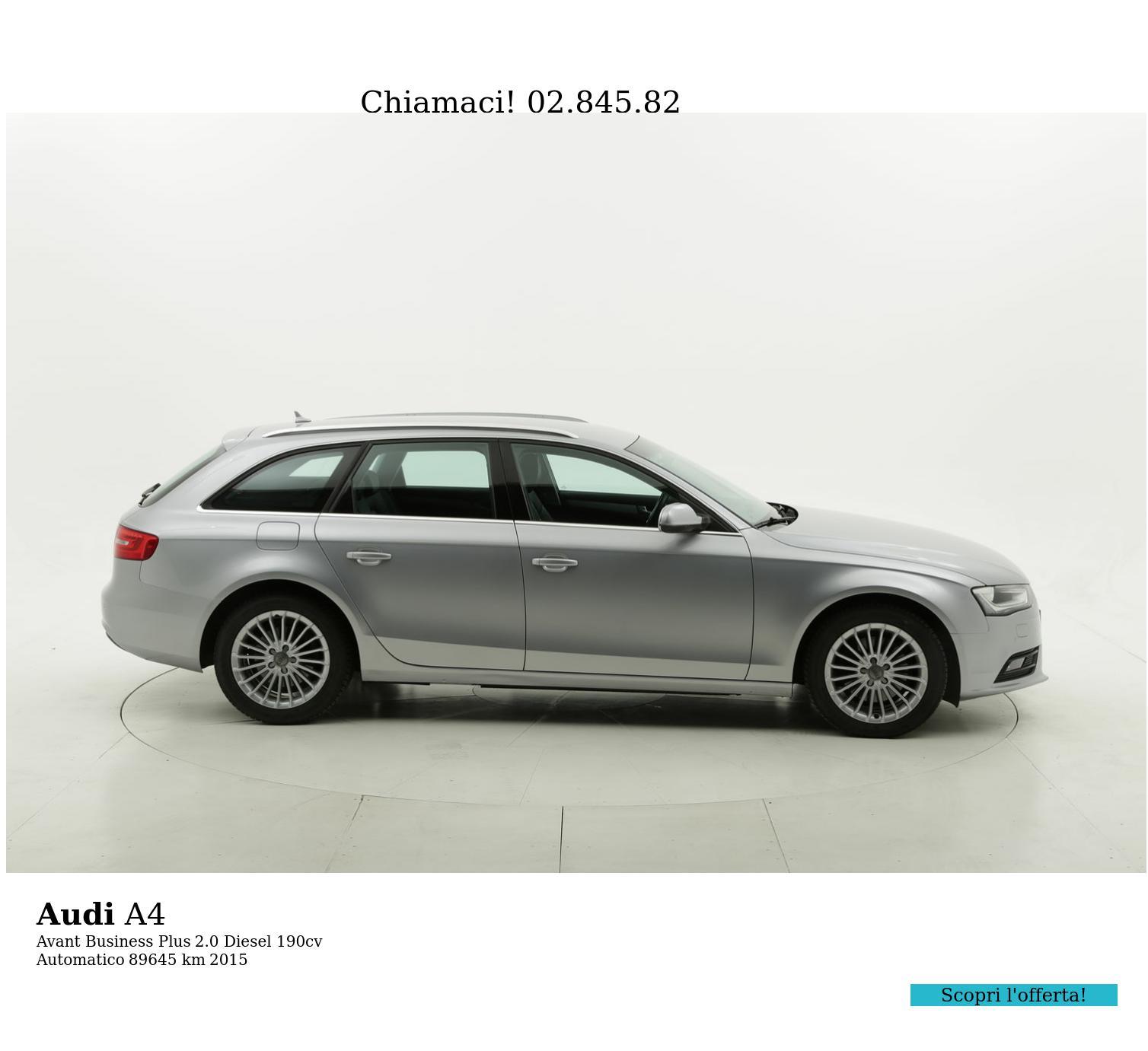 Audi A4 usata del 2015 con 89.807 km | brumbrum